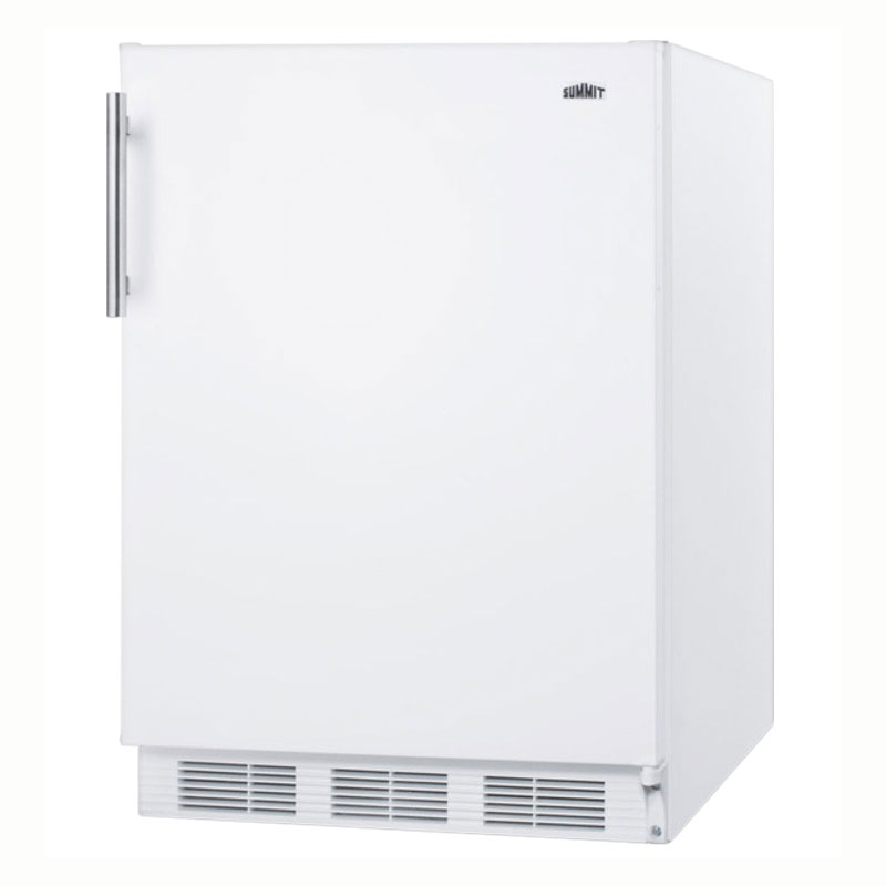 "Summit CT661 24"" Refrigerator Freezer w/ Dual Evaporator, 5.1-cu ft, White, 115v"