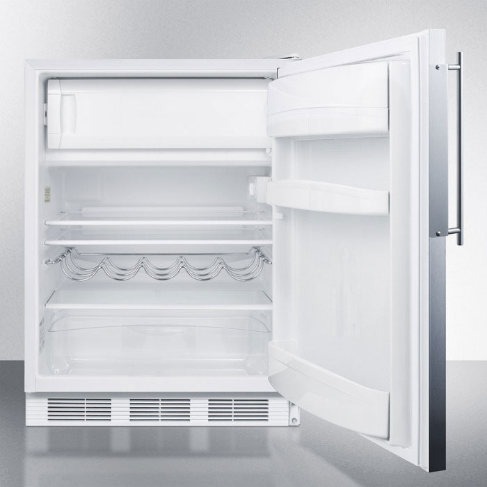 Summit CT661BIFR Undercounter Refrigerator Freezer w/ Dual Evaporator, 5.1-cu ft, White, 115v