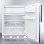 Summit CT661FR 5.1-cu ft Refrigerator/Freezer w/ Dual Evaporator Cooling, White