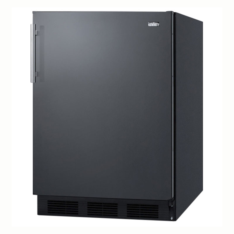 "Summit CT663B 24"" Refrigerator Freezer w/ Cycle Defrost, 5.1 cu ft, Black, 115v"