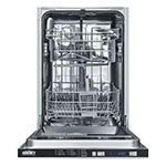 "Summit DW18SS2 18"" Undercounter Dishwasher w/ (4) Wash Settings, Stainless, 115v"