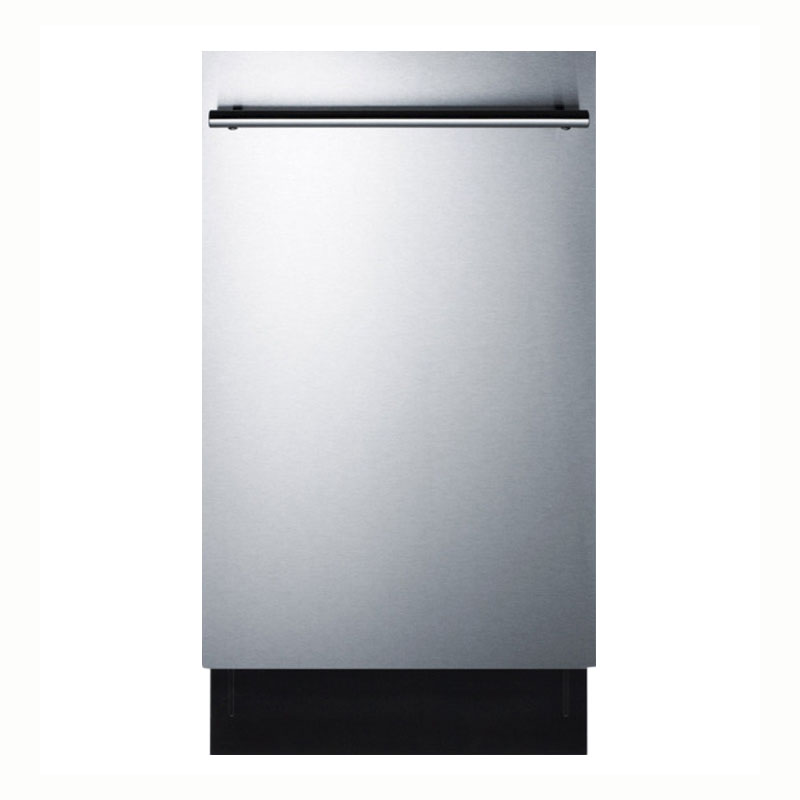 "Summit DW18SS 18"" Undercounter Dishwasher w/ (4) Wash Settings, Stainless, 115v"
