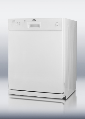 Summit Refrigeration DW2432 W Dishwasher w/ 12-Place Setting, 4-Programs & 3-Way Filter System, White
