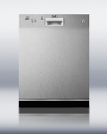 Summit Refrigeration DW2432SS Dishwasher w/ 12-Place Setting, 4-Programs & 3-Way Filter System, Stainless