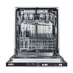 "Summit DW2433SS2ADA 24"" Dishwasher w/ 12-Place Setting & 5-Programs, Stainless, ADA"