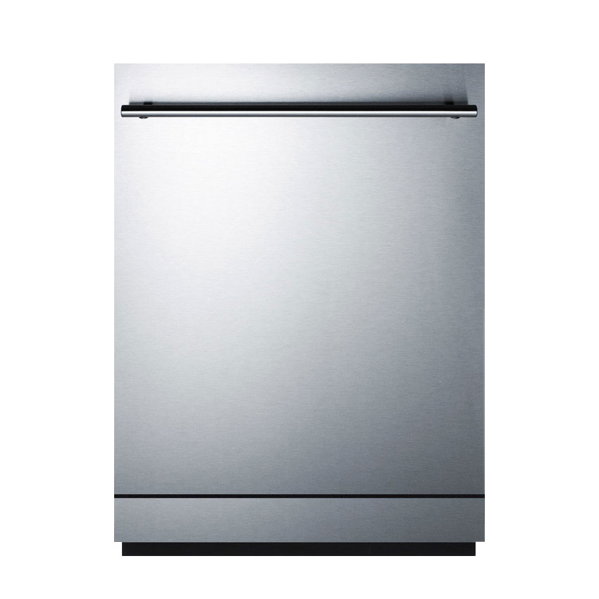 "Summit DW2433SSADA 24"" Dishwasher w/ 12-Place Setting & 4-Programs, Stainless, ADA"
