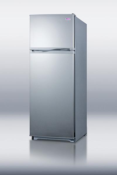 Summit FF1062SLVIM 24-in Refrigerator Freezer Combo w/ Platinum Cabinet & Icemaker, 9.4-cu ft