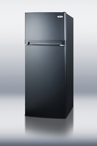 Summit FF1074BLIM 24-in Frost Free Refrigerator Freezer w/ Ice Maker, 10.3-cu ft, Black