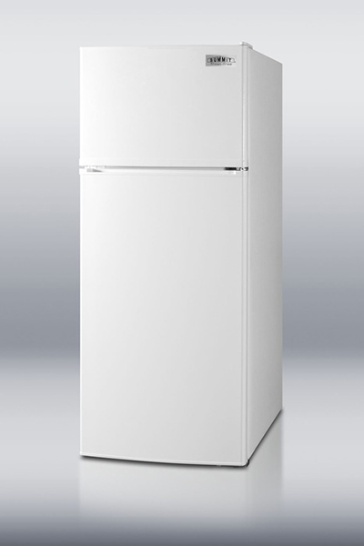 "Summit FF1116W 24"" Refrigerator Freezer Combo - 2-Reversible Doors, 10-cu ft, White"