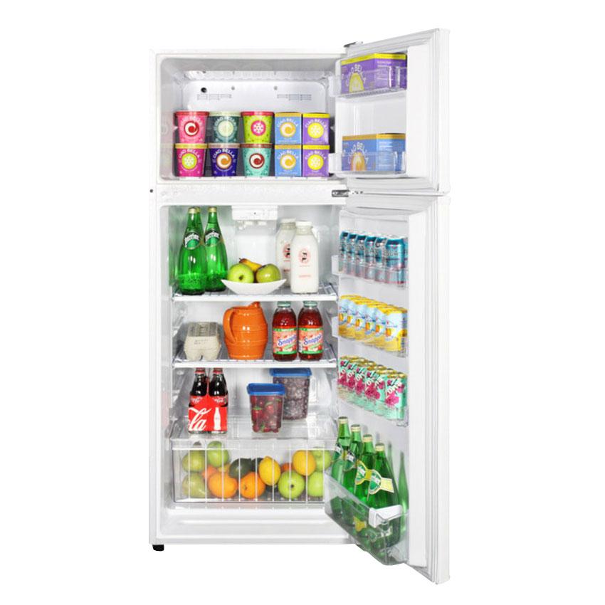 "Summit FF1118W 24"" Refrigerator Freezer Combo - Reversible Doors, 10-cu ft, White"