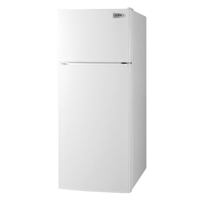 "Summit FF1118W 24"" Refrigerator Freezer Combo - Reversible Doors, 10-cu ft, White"