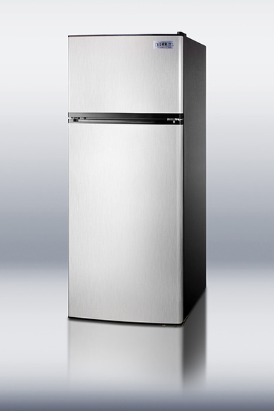 "Summit Refrigeration FF1158SSIM 24"" Refrigerator Freezer Combo - 2-Reversible Doors, Icemaker, 10-cu ft, Stainless"
