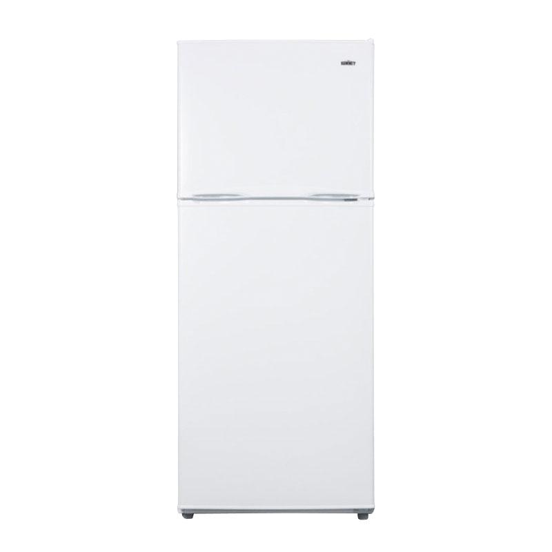 "Summit FF1386W 24"" Refrigerator Freezer w/ Reversible Doors, White, 11.5-cu ft"