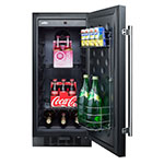 Summit FF1532B 3-cu ft Undercounter Refrigerator w/ (1) Section & (1) Door, Black, 115v