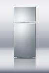 Summit Refrigeration FF1620WSSIM Refrigerator w/ Freezer & Ice Maker, 15.8-cu ft, White/Stainless Door
