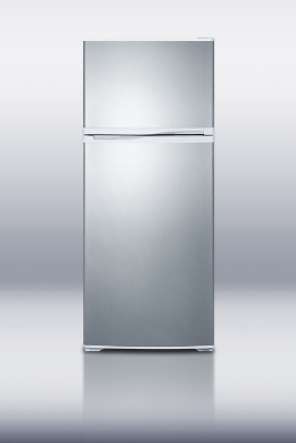 Summit Refrigeration FF1620WSSIM Refrigerator w/ Freezer & Ice Maker, 15.8-cu ft, White/Stainless Door