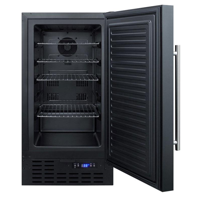 """Summit FF1843B 18"""" Undercounter Refrigerator w/ (1) Door - Black, 115v"""