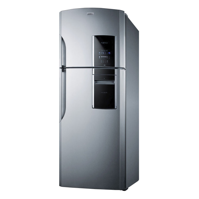 "Summit FF1935PL 29.25"" Refrigerator/Freezer - Frost Free, 18 cu ft, Platinum"