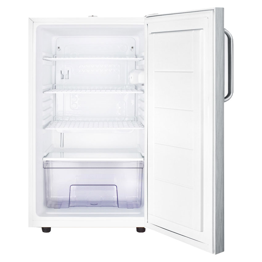 Summit FF511LBI7SSTB 4.1-cu ft Undercounter Refrigerator w/ (1) Section & (1) Door, 115v