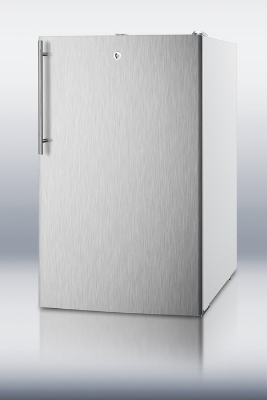 Summit FF511LBISSHVADA Built In Refrigerator, Lock, Thin Handle, Stainless/White, 4.5-cu ft