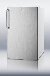Summit Refrigeration FF511LBISSTB Built In Refrigerator w/ Towel Bar & Lock, 4.1-cu ft, White