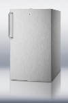 Summit Refrigeration FF511LCSS Built In Refrigerator, Towel Bar, Lock, 4.1-cu ft, Stainless On White