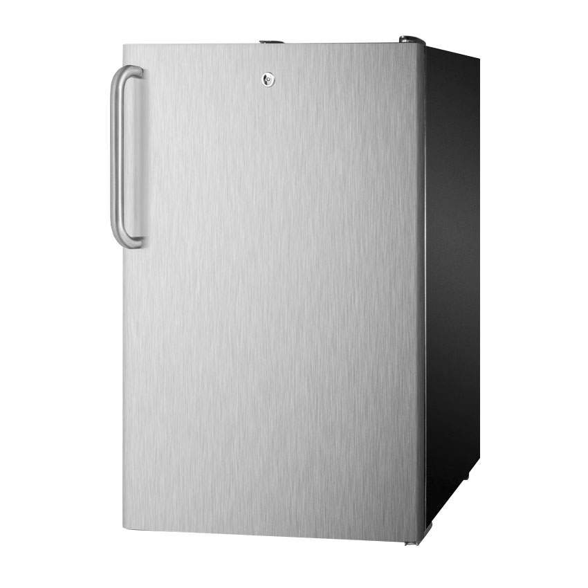 Summit FF521BL7SSTBADA 4.1-cu ft Undercounter Refrigerator w/ (1) Section & (1) Door, 115v