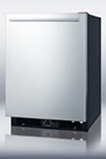 Summit Refrigeration FF590SSHH Frost-Free Refrigerator w/ Black Cabinet & Stainless Door, 5.7-cu ft