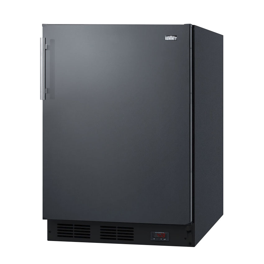 "Summit FF63BBIDTPUB 24"" One Section Wine Cooler w/ (1) Zone - Black, 115v"