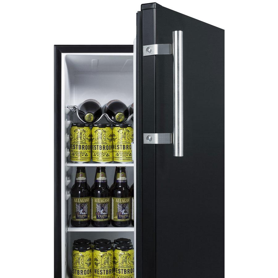 "Summit FF63BBIDTPUBADA 24"" One Section Wine Cooler w/ (1) Zone - Black, 115v"