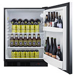 """Summit FF63BBIDTPUBSSHH 24"""" One Section Wine Cooler w/ (1) Zone - Stainless, 115v"""