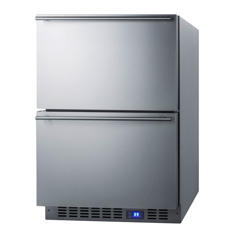 Summit FF642D 3.4-cu ft Undercounter Refrigerator w/ (1) Section & (2) Drawers, 115v