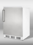 Summit Refrigeration FF67SSTB Refrigerator w/ Handle, Door Shelves, White/Stainless, 5.5-cu ft
