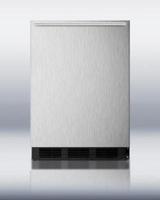"""Summit Refrigeration FF6B7SSHH BLK 23"""" Single Section Reach-In Refrigerator, Solid Door, 115v"""