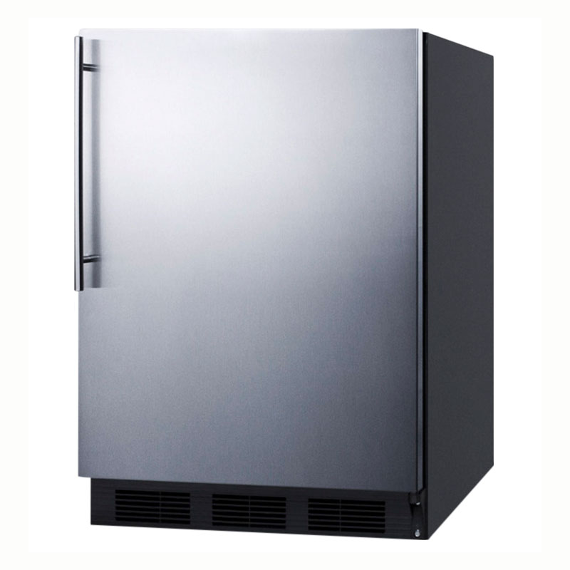 Summit Refrigeration FF6BBISSHVADA BLK 5.4-cu ft Undercounter Refrigerator w/ (1) Section & (2) Drawers, 115v