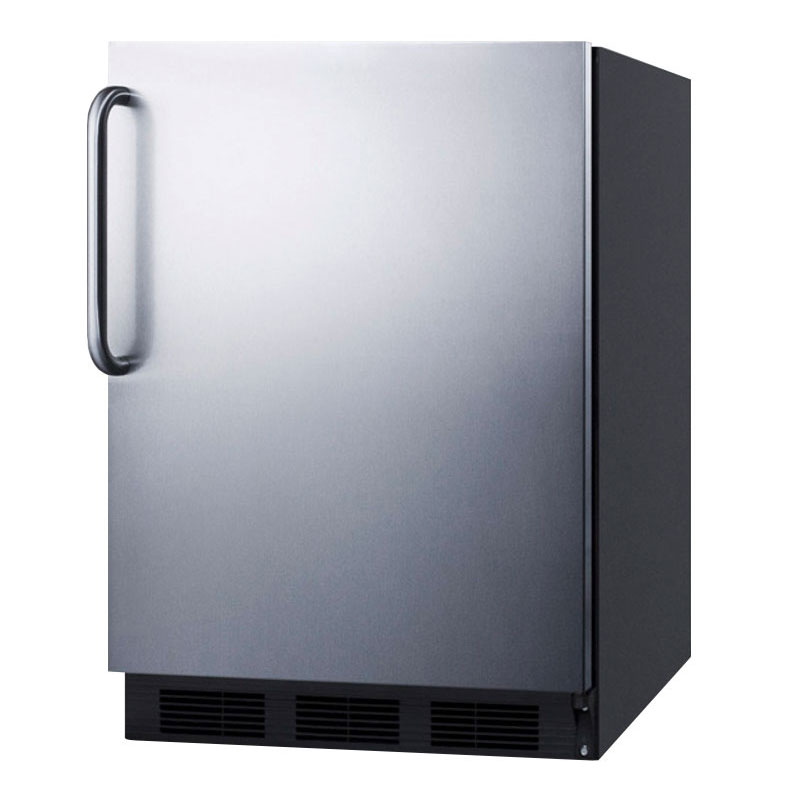 Summit Refrigeration FF6BBISSTBADA BLK 5.4-cu ft Undercounter Refrigerator w/ (1) Section & (2) Drawers, 115v
