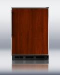 Summit Refrigeration FF6BFR BLK 24-in Refrigerator w/ Adjustable Shelves, Crisper Drawer &