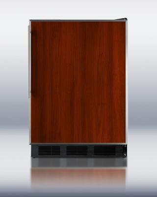 Summit FF6BFR BLK 24-in Refrigerator w/ Adjustable Shelves, Crisper Drawer & Auto Defrost, Black, 5.5-cu ft