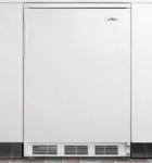 Summit Refrigeration FF6BI Professional Undercounter Refrigerator w/ 1-Section & Auto Defrost, White, 5.5-cu ft