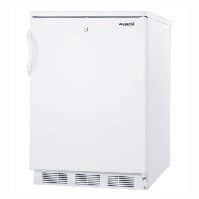 Summit Refrigeration FF6LBI Undercounter Refrigerator Built-In European Interior White Restaurant Supply