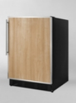 Summit Refrigeration FF7BFR Undercounter Refrigerator w/ Liner, Black/Custom, 5.5-cu ft