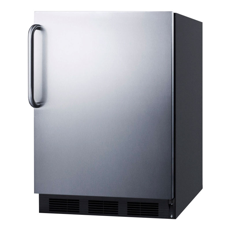 Summit FF7BSSTB 5.5-cu ft Undercounter Refrigerator w/ (1) Section & (1) Door, 115v