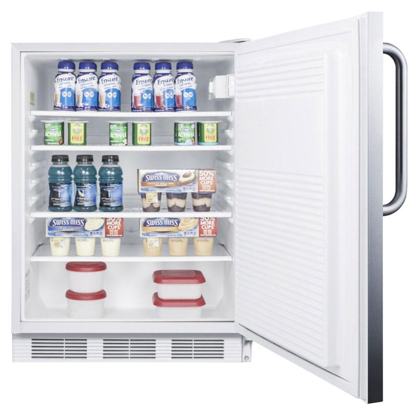 Summit FF7CSS 5.5-cu ft Undercounter Refrigerator w/ (1) Section & (1) Door, 115v