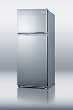 Summit Refrigeration FF882SLV 24-in Refrigerator Freezer w/ Frost Free Operation & Crisper Drawer, Platinum, 8.9-cu ft