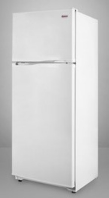 Summit Refrigeration FF882W 23.25-in Refrigerator Freezer w/ 2-Doors & Adjustable Wire Shelves, White, 8.86-cu ft