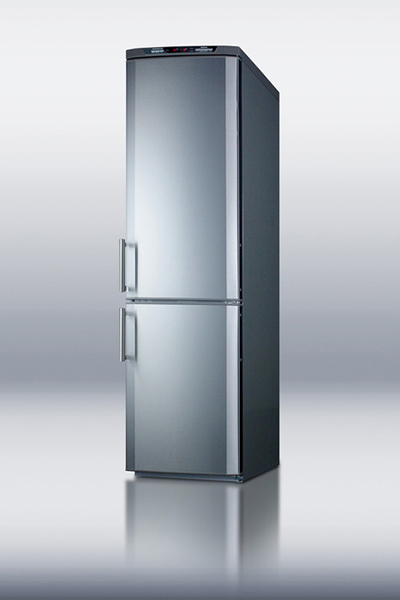 "Summit FFBF171SS 24"" Bottom Freezer/Refrigerator Combo - 11.47 cu ft, Frost Free, Stainless"