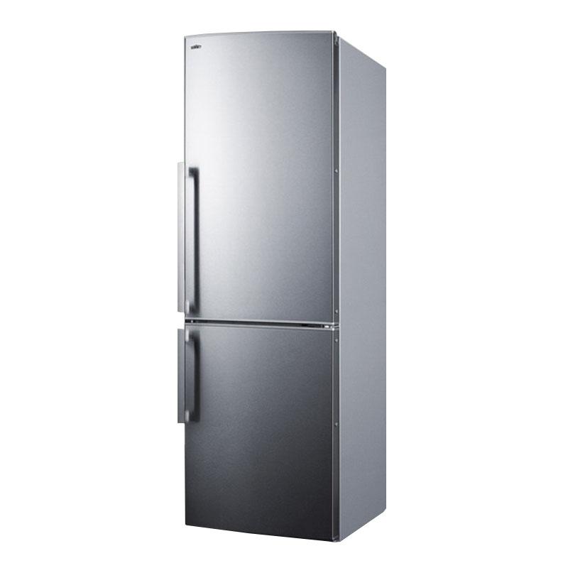 "Summit Refrigeration FFBF245SSX 24"" Refrigerator/Freezer - Frost Free, Stainless, 115v"