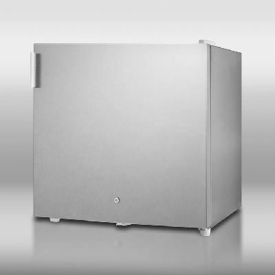 Summit Refrigeration FS20LCSS Cube Sized All-Freezer, Manual Defrost, Front Mounted Lock, Stainless