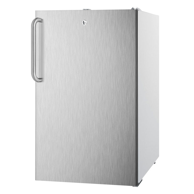 Summit FS407LBI7SSTB 2.8-cu ft Undercounter Freezer w/ (1) Section & (1) Door, 115v
