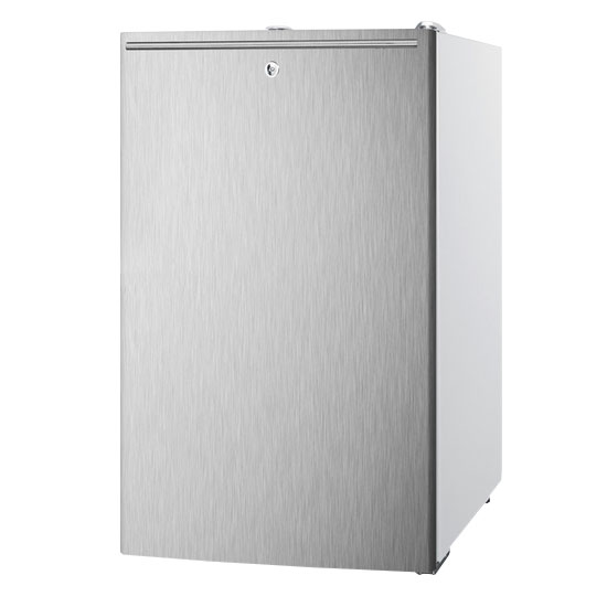 Summit Refrigeration FS407LBISSHHADA Built In Freezer, Lock, Horizontal Handle, Stainless/White, 2.8-cu ft